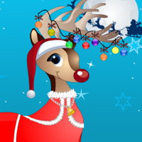 Free online flash games - Christmas Reindeer Decory game - Games2Dress