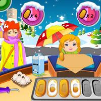 Free online flash games - Christmas Pancake  Shop game - Games2Dress