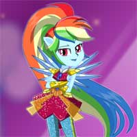 Free online flash games - Crystal Guardian Rainbow Dash game - Games2Dress