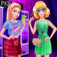 Free online flash games - Cutezee And Super Ellie BFF Night game - Games2Dress