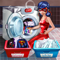 Free online flash games -  Ladybug Washing Costumes game - Games2Dress