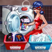Free online flash games -  Ladybug Washing Costumes game - Games2Dress