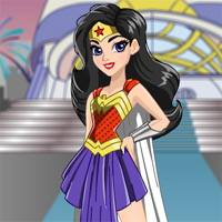 Free online flash games - Intergalactic Gala Wonder Woman Starsue game - Games2Dress