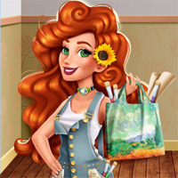 Free online flash games - Jessies Van Gogh Couture GirlsPlay game - Games2Dress
