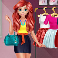 Free online flash games -  Mermaid Princess Glossy Makeup game - Games2Dress