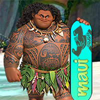 Free online flash games - Moana Sandboard game - Games2Dress