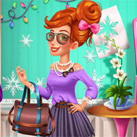 Free online flash games - Jessies Winter Fashion game - Games2Dress