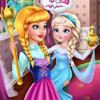 Free online flash games - Prank the Nanny Baby Ice Queen game - Games2Dress
