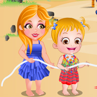 Free online flash games - Baby Hazel Beach Party game - Games2Dress