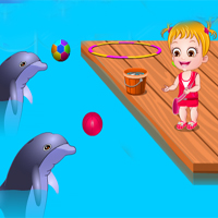 Free online flash games - Baby Hazel Dolphin Tour game - Games2Dress