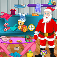 Free online flash games - Santa Claus Christmas Cleaning game - Games2Dress