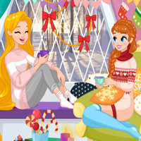 Free online flash games - Princesses Winter Stories game - Games2Dress
