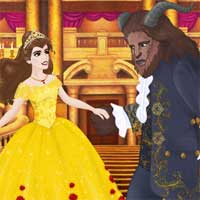 Free online flash games - Beauty And The Beast DressupWho game - Games2Dress