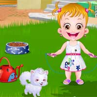 Free online flash games - Baby Hazel Puppy Care game - Games2Dress