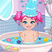 Free online flash games - Moody Ally Baby Bath Girlg game - Games2Dress