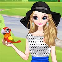 Free online flash games - Girl and Birds game - Games2Dress