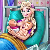 Free online flash games - Ice Queen Twins Birth game - Games2Dress