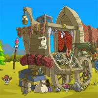 Free online flash games - Games2Jolly Wooden Cart Escape game - Games2Dress