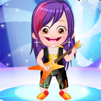 Free online flash games - Baby Hazel Rockstar Dressup TopBabyGames game - Games2Dress