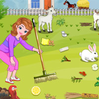 Free online flash games - Sofia Farm House Cleaning game - Games2Dress