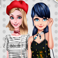 Free online flash games - BFFs Visit Paris game - Games2Dress