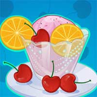 Free online flash games - Cherry Vanilla Ice Cream MicroCookingGames game - Games2Dress