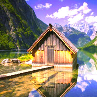 Free online flash games - Glacial Mountain Lake Escape game - Games2Dress