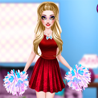 Free online flash games -  Sarahs Cheerleader Look game - Games2Dress