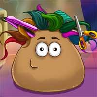 Free online flash games - Pou Real Haircuts game - Games2Dress