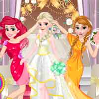 Free online flash games - Princesses Bridesmaids PlayBelle game - Games2Dress