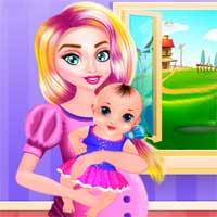 Free online flash games - Betty Pretty Newborn Baby game - Games2Dress