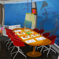 Free online flash games - KnfGames Underwater Restaurant Escape game - Games2Dress