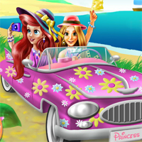 Free online flash games - Princesses Beach Trip Playdora game - Games2Dress