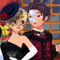 Free online flash games - Flirting Masquerade game - Games2Dress