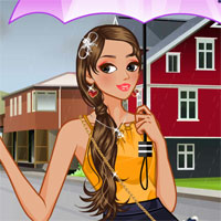 Free online flash games - Cute Umbrellas LoliGames game - Games2Dress