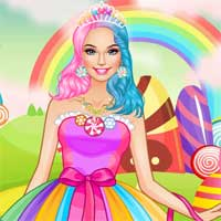 Free online flash games - Rainbow Candies LoliGames game - Games2Dress