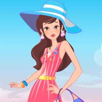 Free online flash games - Beautiful Coastal Girl game - Games2Dress