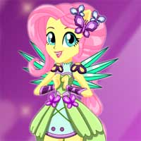Free online flash games - Crystal Guardian Fluttershy game - Games2Dress