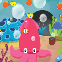 Free online flash games - Little Octopus Escape GenieFunGames game - Games2Dress