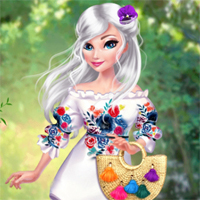Free online flash games - Princesses Pretty In Floral game - Games2Dress