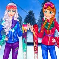 Free online flash games - Princesses At Ski Playema game - Games2Dress