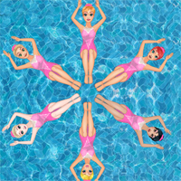 Free online flash games - Princess Synchronized Swimming DressupWho game - Games2Dress