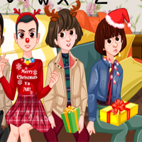 Free online flash games - Stranger Things Christmas Party game - Games2Dress