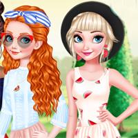 Free online flash games - Girls Watermelon Crush EgirlGames game - Games2Dress