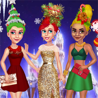 Free online flash games - Christmas Tree Inspired Hairstyles game - Games2Dress