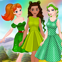 Free online flash games - Princess St Patricks Party game - Games2Dress