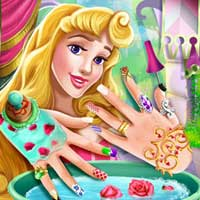 Free online flash games - Sleeping Princess Nails Spa game - Games2Dress