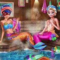 Free online flash games - Mermaids BFFs Realife Sauna SiSiGames game - Games2Dress