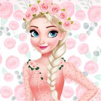 Free online flash games - Ice Princess Stylish Roses EgirlGames game - Games2Dress