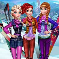 Free online flash games - Princesses Visit Arendelle ZeeGames game - Games2Dress